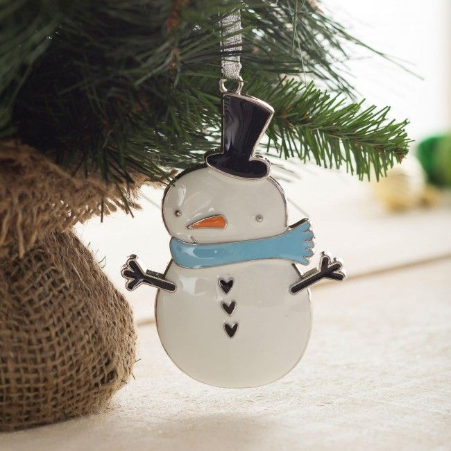 Add this little snowman to your Christmas tree this year.