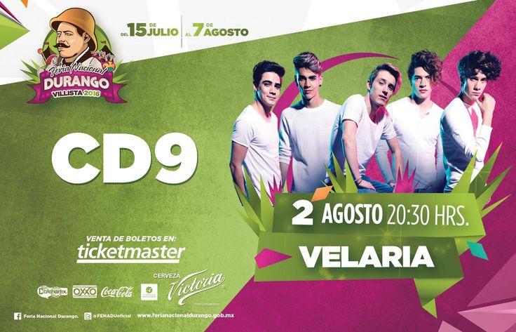 Concierto de CD9 - Feria Nacional Durango 2016