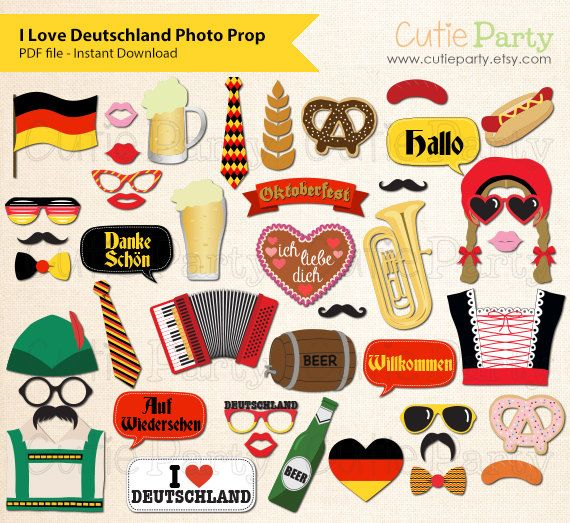 Germany Theme Party Photo Booth Prop Deutschland by Cutieparty