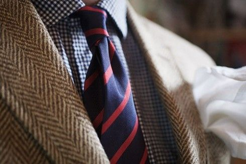 gingham shirt tie combinations | ... The gingham check shirt chosen here adds yet another pattern element