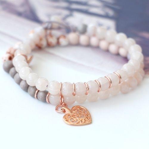 Diese Natur Schönheiten aus Holzperlen und Jade Naturstein Perlen sind wieder super schön um selbst Schmuck zu machen!