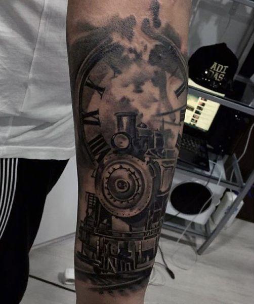 Train tattoo                                                       …