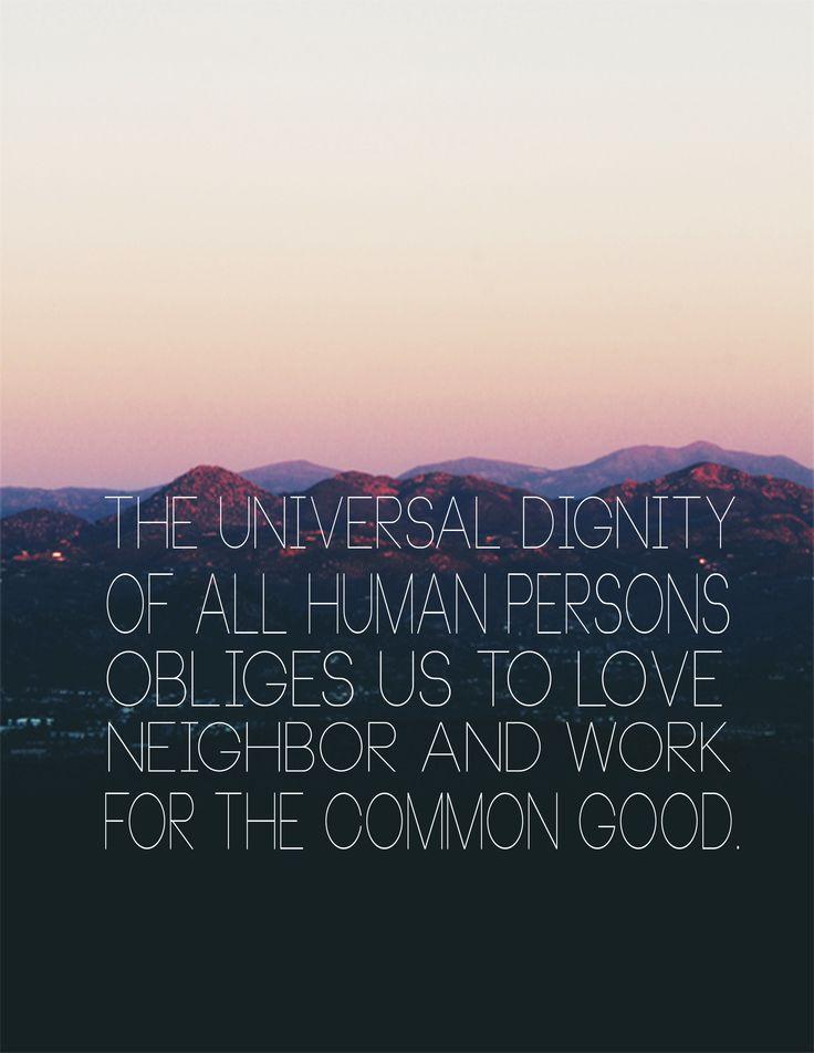 Universal Dignity..