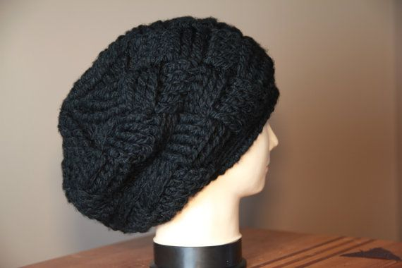 Satin Lined Chunky Basket Weave Beanie for by TheObsessedCrocheter