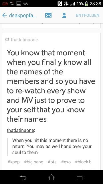 This is true. I just realised I have done that for all the bands I know all the members names of (which isn't that many yet)