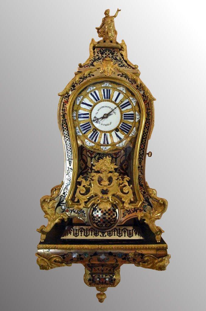Cartel et sa console d'époque Louis XV signé A.BERTRAND