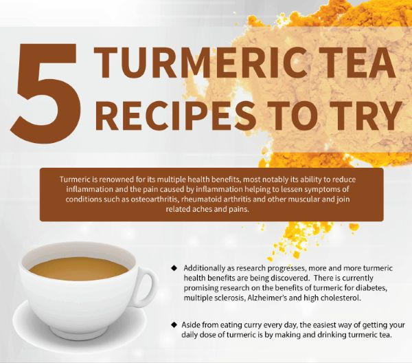 Turmeric tea is renowned for its multiple health benefits, including its ability to reduce inflammation & pain. Try a turmeric tea recipe in place of Advil.