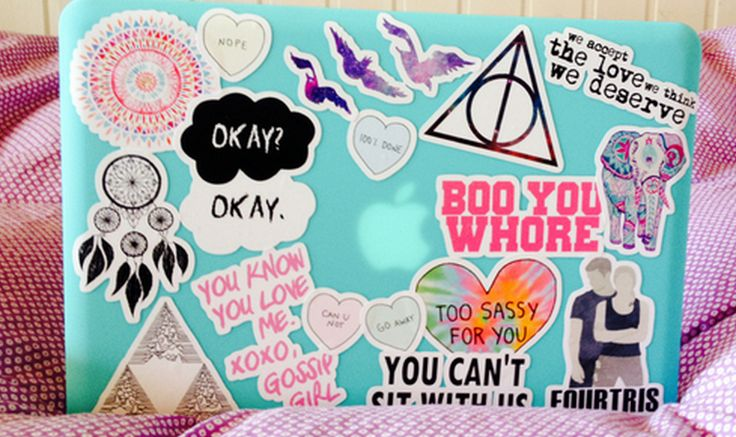 awesome cute laptop stickers