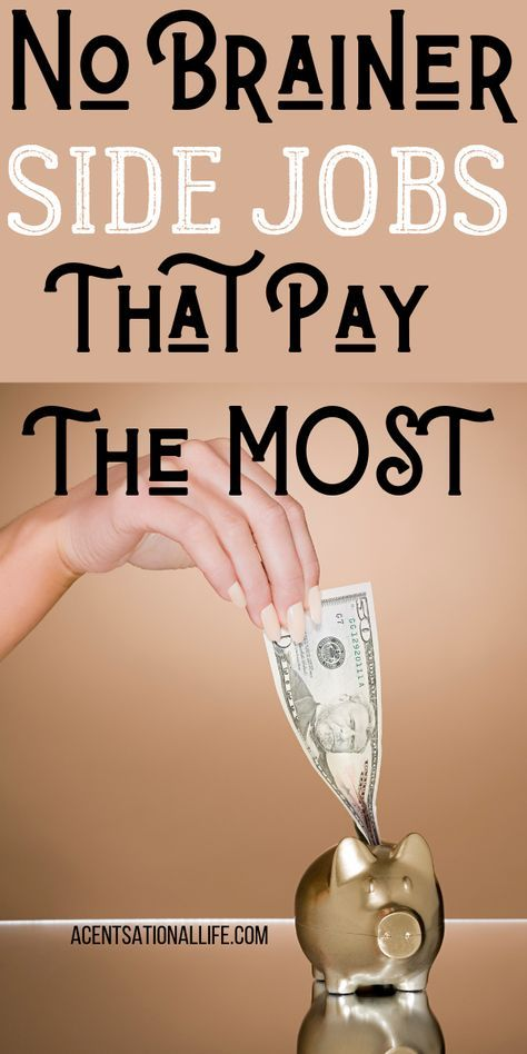 Side Jobs That Pay The Most Money! #makemoney – Millennial Personal Finance | Saving – Debt – Investing – Retirement – Travel