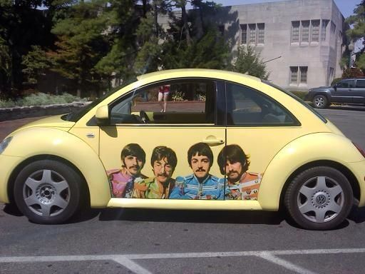 The Beatles on a Beetle.                                                                                                                                                                                 More