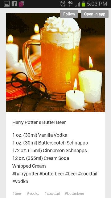 Harry Potters Butter Beer.. maybe without the cinnamon, not a fan of cinnamon