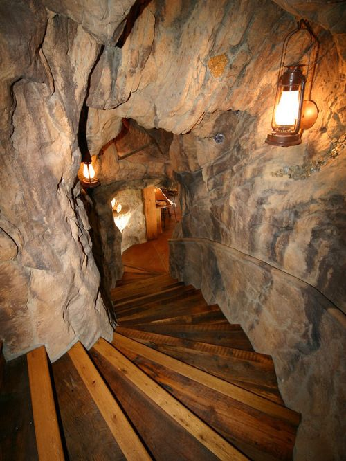 It's like going into a cave. Gives new meaning to Man Cave.