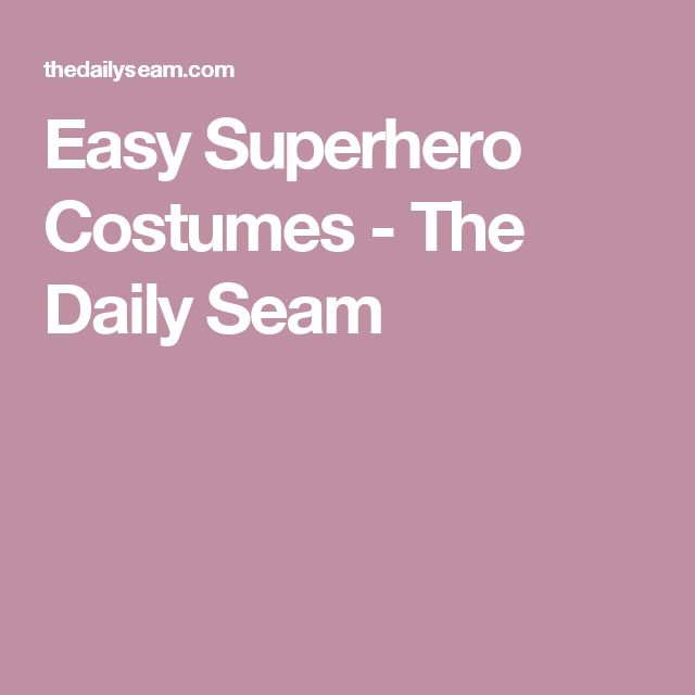 Easy Superhero Costumes - The Daily Seam - Visit to grab amazing Super Hero Dry-Fit Shirts, now on sale!
