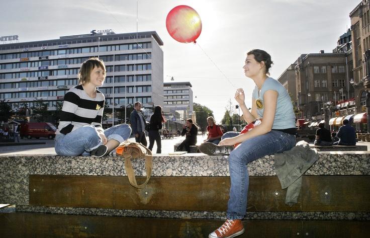 Students from Vamk, Vaasa.