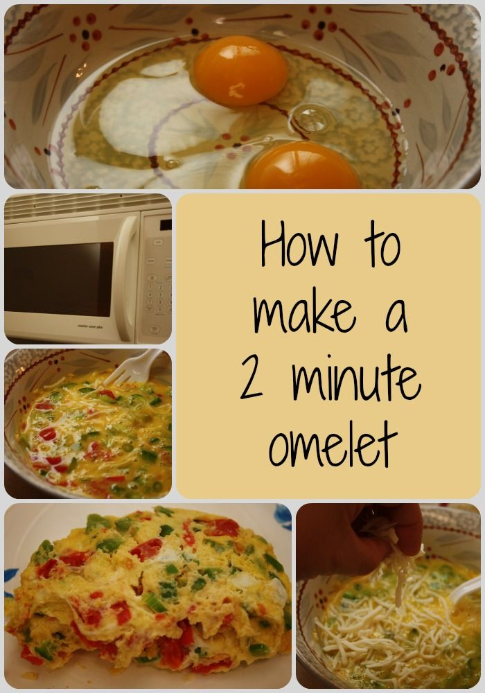 Easy 2 Minute Omelet Easy Omelet Microwave Recipes