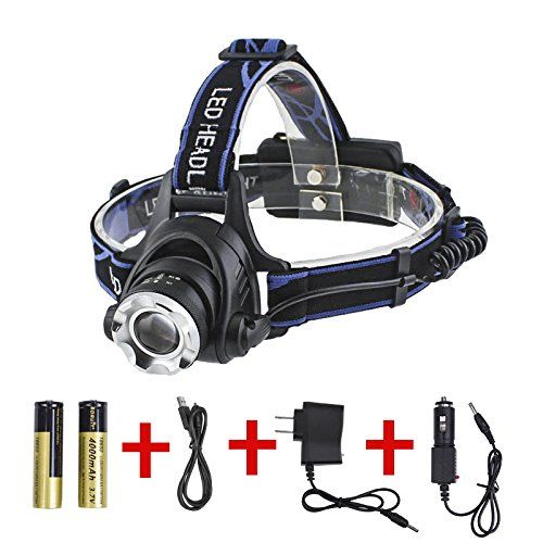 Boruit Rechargeable LED Head Lamps CREE T6 Flashlight Headlamp with 3in1 Multi Functions 1800 Lumens *** Check out this great product.