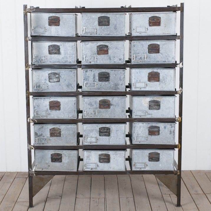 Vigoureux 18 Drawer Chest These Utilitarian Pieces Are Raw Uncontrived And Highly Collectable