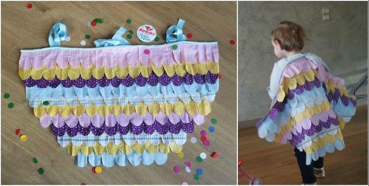 DIY / Création d'une cape en tissu pour un costume d'oiseau de Carnaval !