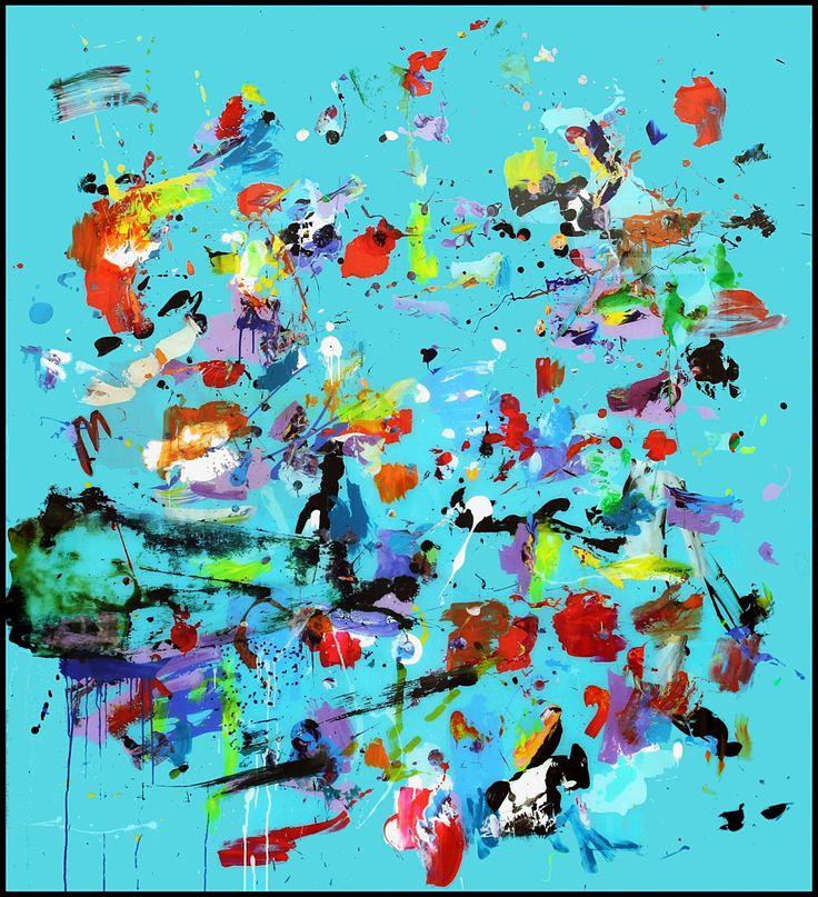 ATLAS Deep Turquoise  mixed media on plexiglass 190 x 170 cm www.santiagopicatoste.com Visual Artist