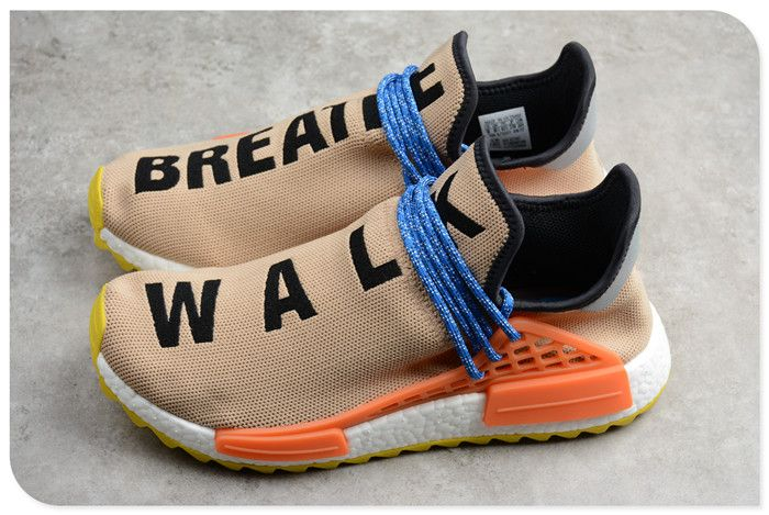 40da68b4cb4c3 Pharrell Williams x adidas NMD Hu Trail Pale Nude Core Black Yellow AC7361