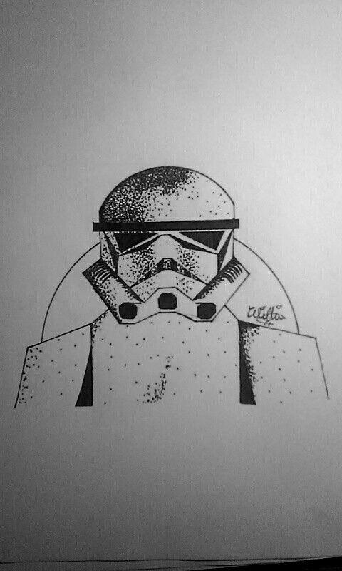 Inktober day #6! Stormtrooper