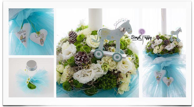 Daydreamer Christening candle  www.facebook.com/faitamain www.simplyhappy.ro