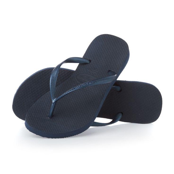 Havaianas Slim Flip Flops - Navy Blue