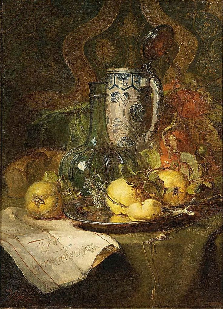 MARIA VOS DUTCH, 1824-1906 A STILL LIFE WITH QUINCEPEARS AND A PITCHER