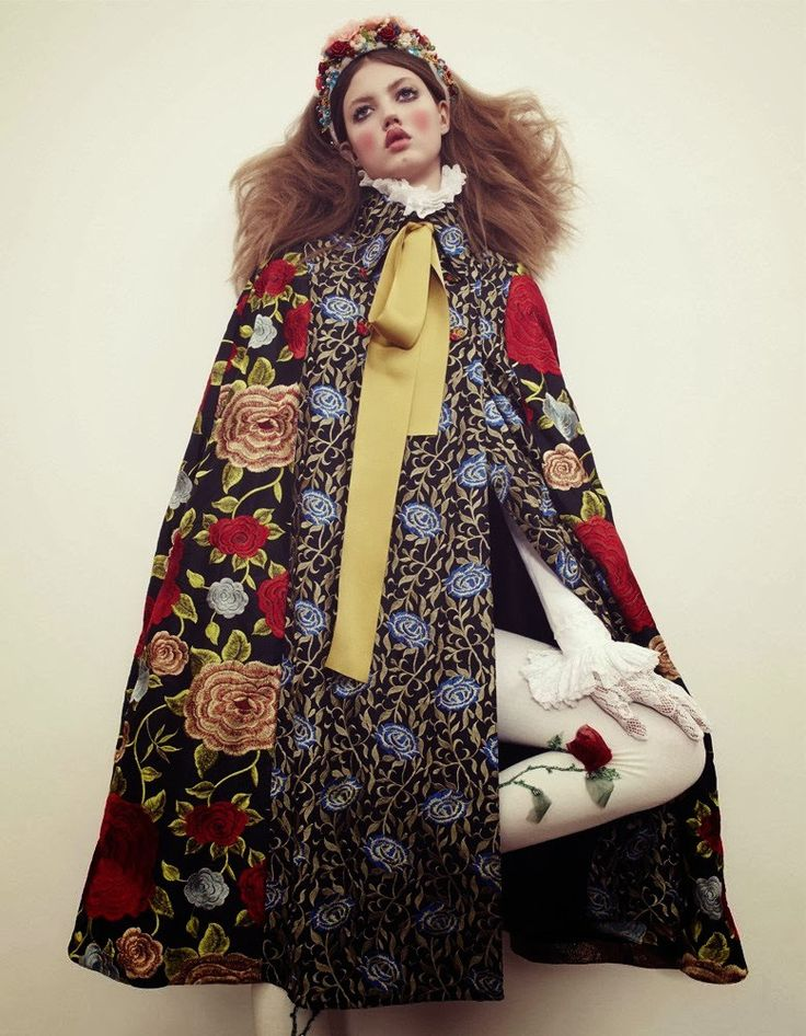 Lindsey Wixson in Duro Olowu by Emma Summerton for Vogue Japan December 2013
