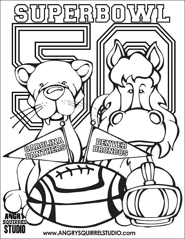 Super Bowl 50 Coloring Page Pin By Angry Squirrel Studio On Coloring Pages And More In 2020 Coloring Pages Dinosaur Coloring Pages Free Coloring Pages