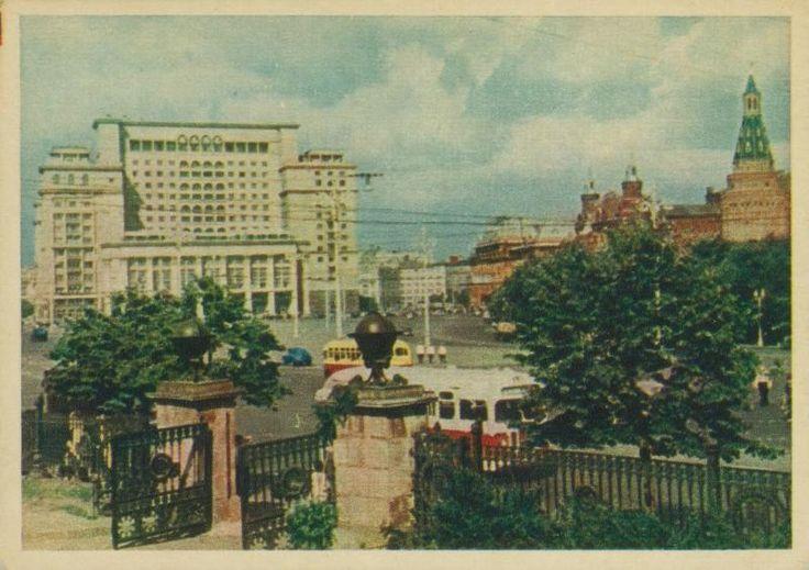 Манежная площадь, 1950-е 1950-01-01 - 1959-12-31, г. Москва, Манежная пл.