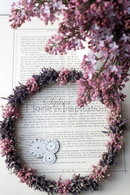 .: Couronn Of, Lavender Wreaths, Flower Circlet, Crafts Wreaths, Color, Kransen En, Wreaths E T C, Beautiful Wreaths, Mooie Kleurencombinati