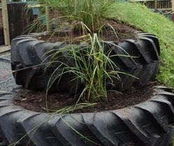 The Grass Roof Company - using Waste wool and straw, tyres, concrete and ceramics
