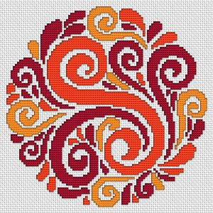 "Beautiful ""Decorative Motif"" free cross stitch pattern from Alita Designs"