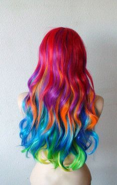 Maybe you can't have Unicorn hair all the time. But you CAN have it when you want it with this rainbow wig!