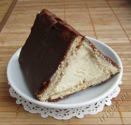 Торт без выпечки из творога и йогурта