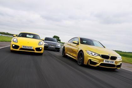 BMW M4 vs Porsche Cayman S PDK vs Audi RS5 - http://www.bmwblog.com/2014/07/11/bmw-m4-vs-porsche-cayman-s-pdk-vs-audi-rs5/