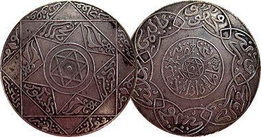 Morocco 5 Dirhams and 10 Dirhams (AH1315)  1897 to 1900