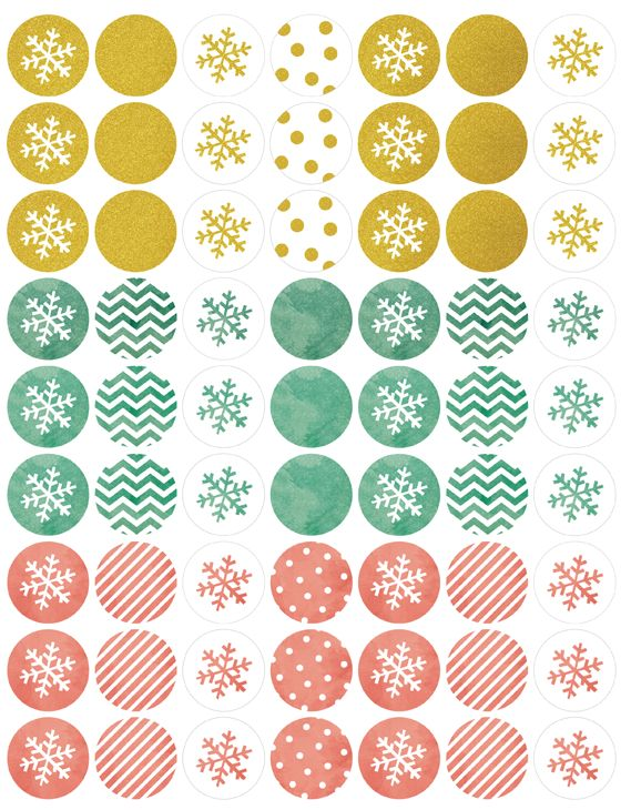 Holiday Labels in a Watercolor & Glitter Theme