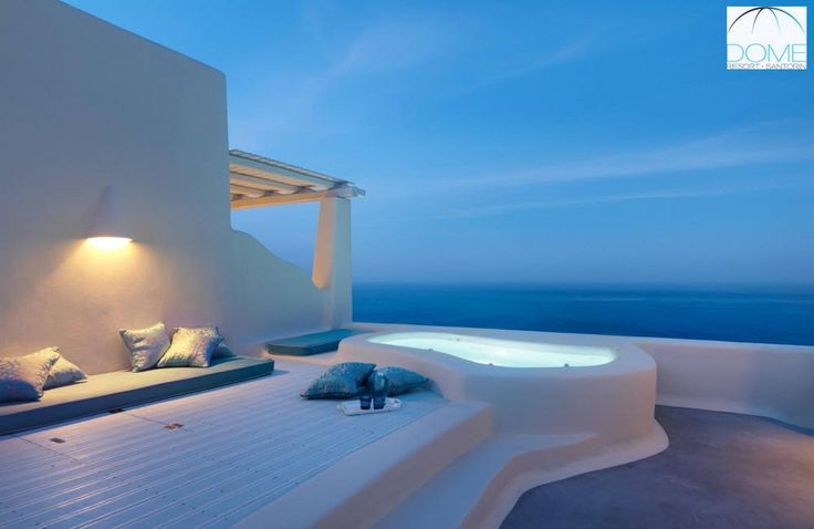 Santorini offers the perfect scenery for enchanting moments after hours. Join the magic! More at domesantoriniresort.gr