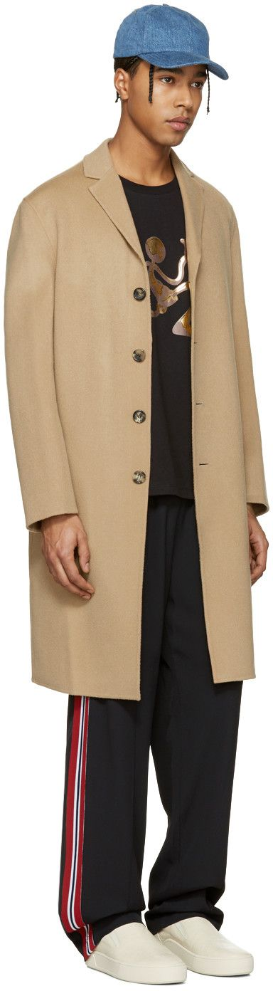 Acne Studios - Manteau brun clair Charlie