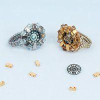 Half Tila Cabochon Ring | Take a Make Break | Beads Direct