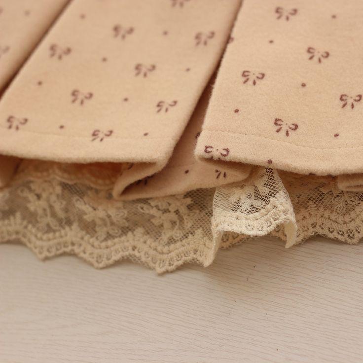 Осень Лук печати талии юбки шерстяные юбки, плиссированные юбки шерстяные юбки торт дна - китайский интернет магазин Megataobao