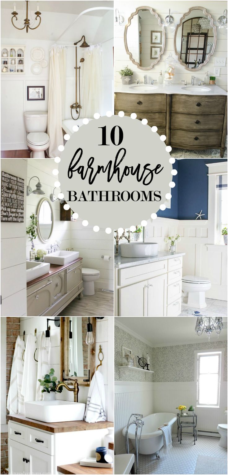10 Gorgeous Farmhouse Bathroom Renovations - Home Stories A to Z