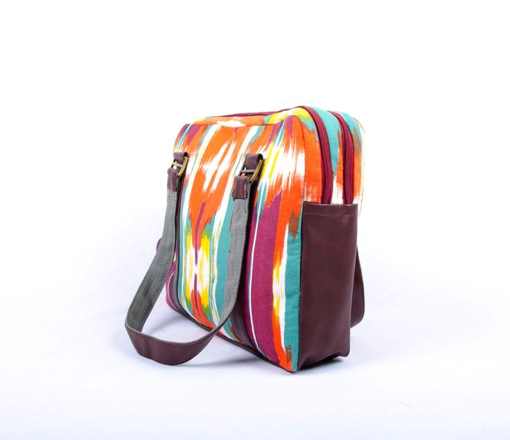 Laptop Handbag, The Broad Brush Stroke Pattern, Laptop Bag, Laptop Bag Women, Laptop Bag for Women, Macbook Bag, Vegan Bag, Fabric Bag by Orunie on Etsy