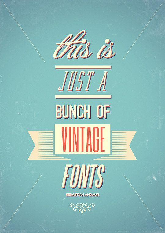 vintage fonts.
