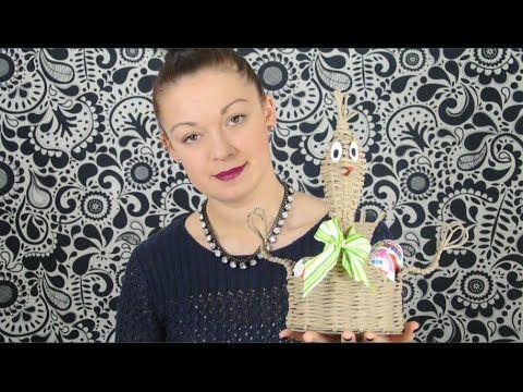 Pletení z papíru - velikonoční slepička z papírových ruliček - YouTube