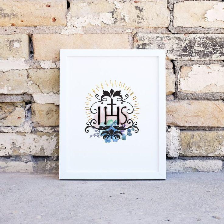 IHS Printable Image Jesus Saviour of Men Christogram