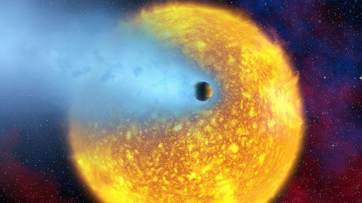 <p>17/02/2016/Representación artística del planeta HD 209458b, clasificado como un Júpiter caliente / esa.int Estos exoplanetas gigantes son excelentes objetos de estudio para los astrónomos en su búsqueda de mundos fuera del sistema solar. Un equipo internacional de astrónomos dirigido por…</p>