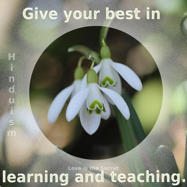 Protect your spiritual progress always. Give your best in learning and teaching. Never fail in respect to the sages.   Hinduism  Taittiriya Upanishad, 1.11  Source:http://www.thesoulofashark.com/2012/12/28/great-quote/